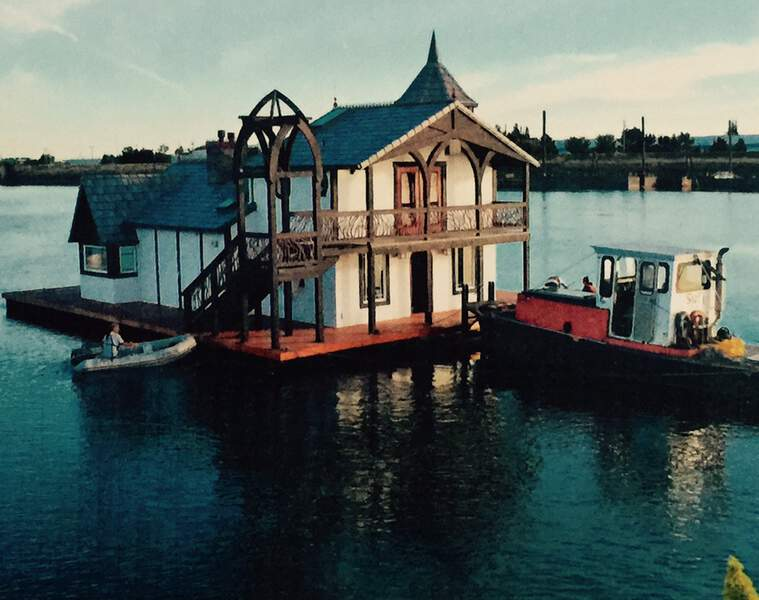 Timberframe House Boat