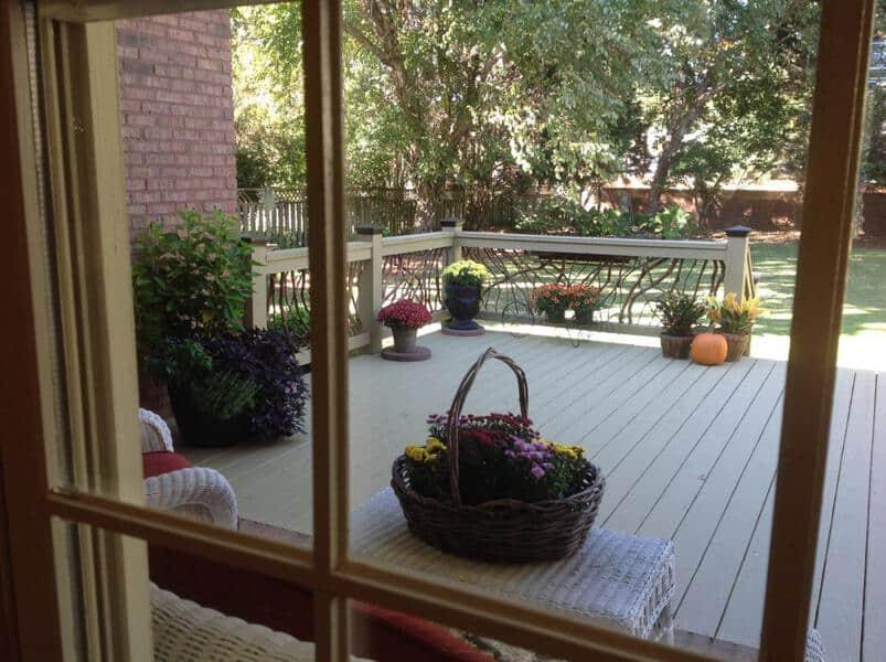 Deck Handrail through the Window