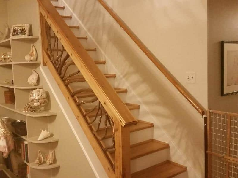 Interior Wood Stair Railing