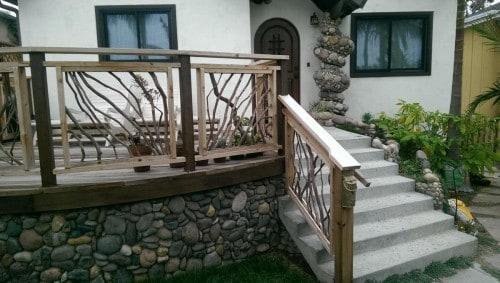 La Jolla, California Front Porch Railing