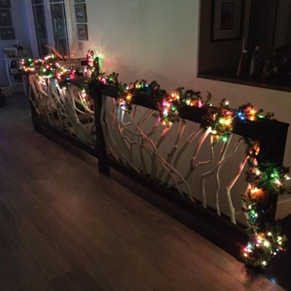 Railing Christmas Lights Deck Railing Mountain Laurel