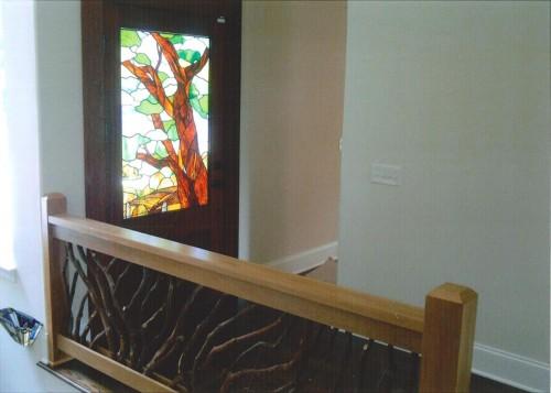 Branch Handrail with Oak Boards