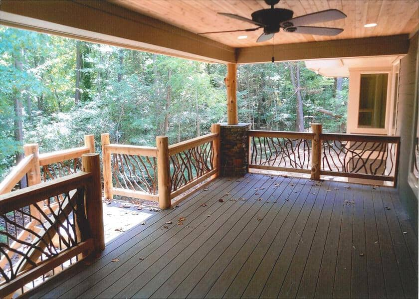 Cedar Deck Railing Posts