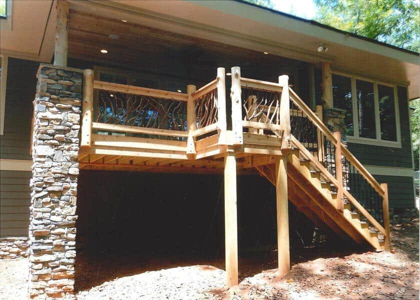 cedar-post-deck-railing - Deck Railing   Mountain Laurel ...