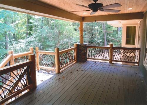 Porch Railing with Cedar Logs