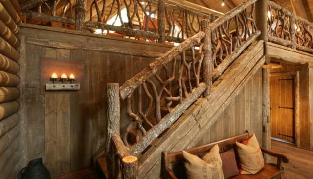 Hickory Logs With Bark - Deck Railing