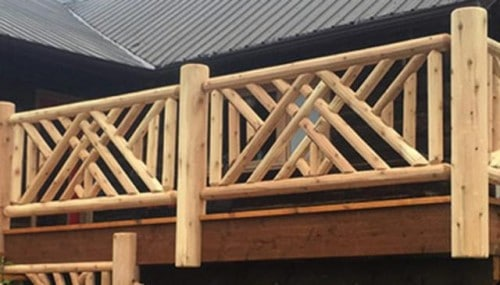 Alternate Pattern Log Railing