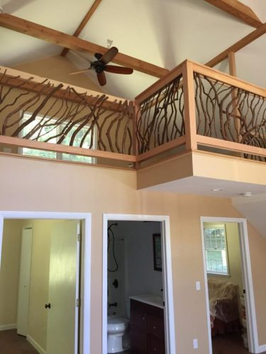 Branch railing and neutral colors