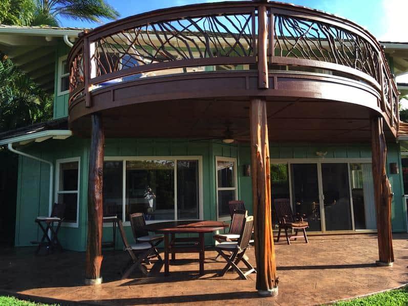 Curved railing Hawaii