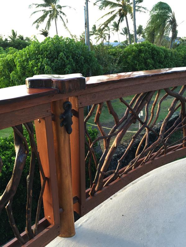 Custom Ohia posts and Lychee top rail
