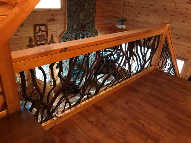 Georgia balcony branch railing