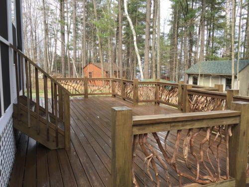 Georgia rustic deck railing