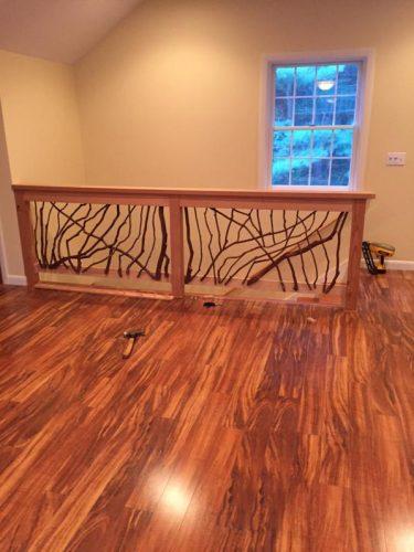 Laurel railings and hardwood floors