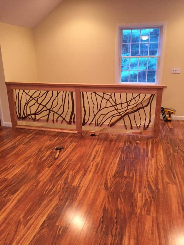 Laurel railings and hardwood floors