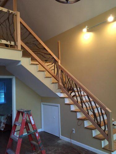 Modern Mountain Laurel handrail staircase