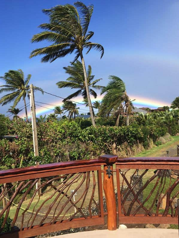 Mountain Laurel handrails Hawaii rainbow