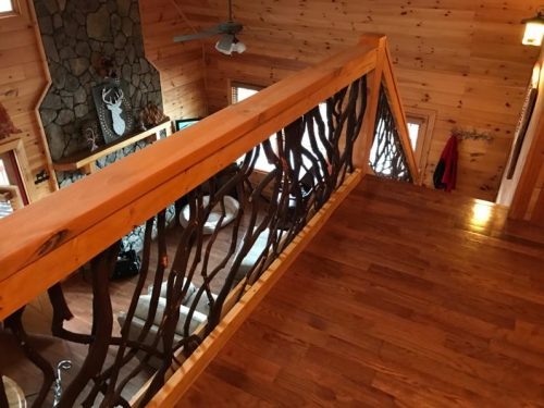 Mountain Laurel handrails on Georgia balcony