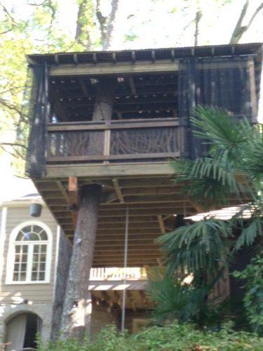 Mountain Laurel handrails treehouse Atlanta Georgia