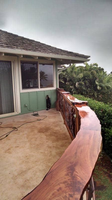 Professional woodwork custom Lychee railing