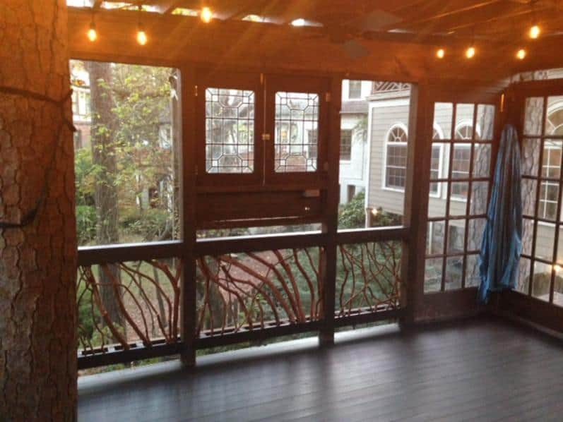 Treehouse handrails