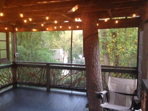 Treehouse railings