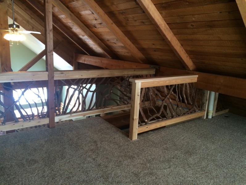 Wisconsin cabin balcony railing