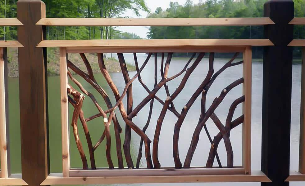 Lissara style mountain laurel handrail
