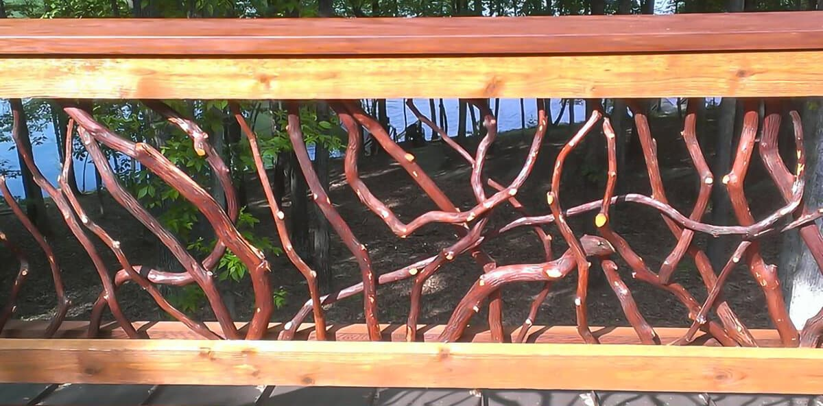 Mountain laurel stained sticks