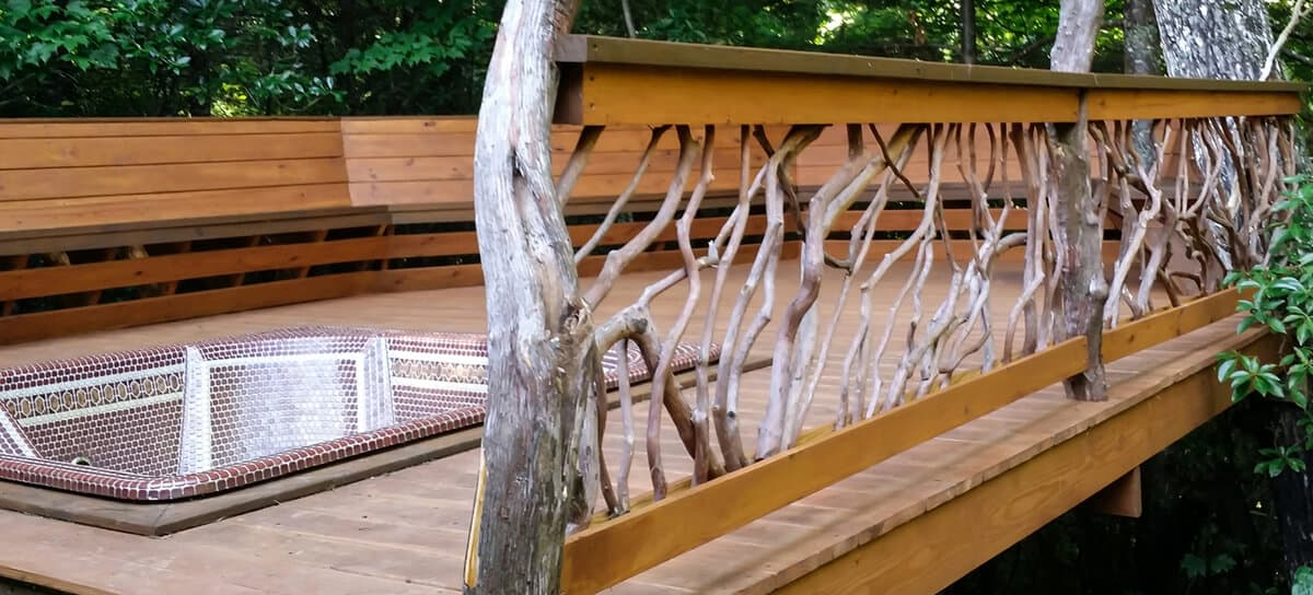 hot tub railing