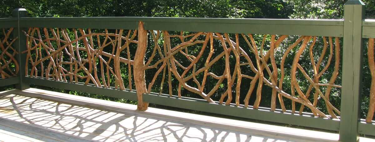 wood railing by mountain-laurel-handrails