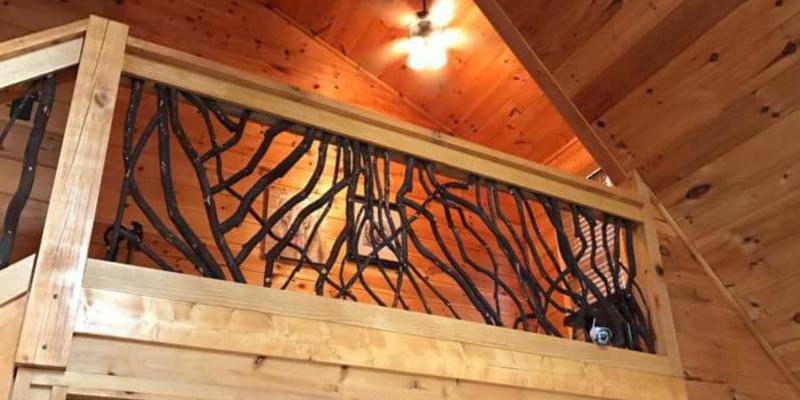 Natural Wood Handles #1006 Mountain Laurel Rustic Home Decor Log Cabin Decor