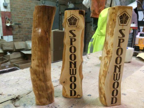 Spoonwood Brewery Tap Handle