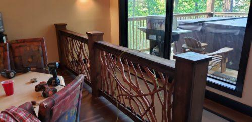Balcony Raililng Ski Lodge