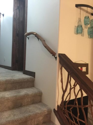 Banister Branch On Staircase