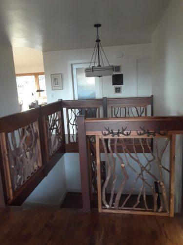 Branch Guardrail Around Stairwell
