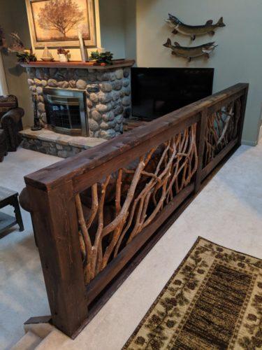 Branch Railing Living Room Divider
