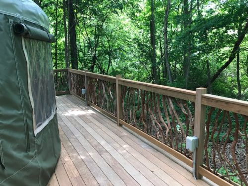 Handrails For Yurt Deck
