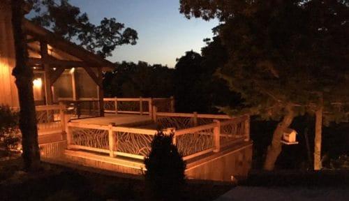 Handrails On Deck At Dark