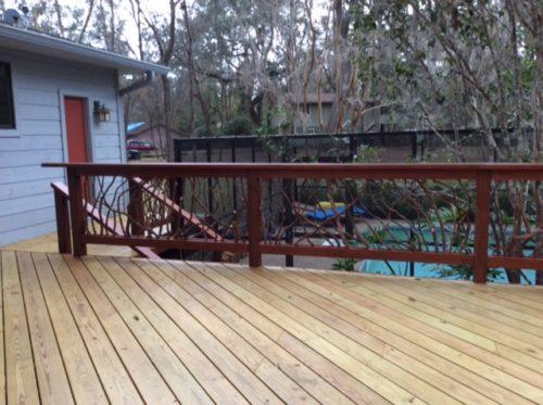 Installed Deck Handrail Tallahassee