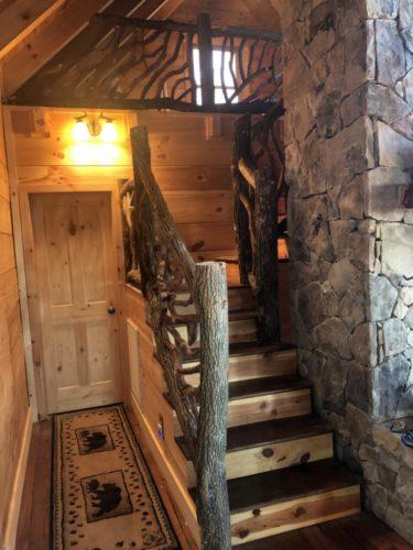 Locust Log Stair Railing