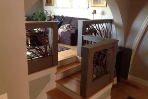 Loft Staircase Railing Massachusets