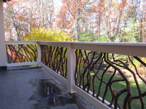 Massachusets Balcony In The Fall