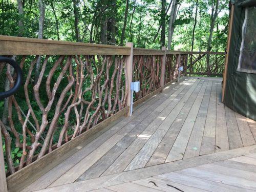 Mountain Laurel Handrails Yurt
