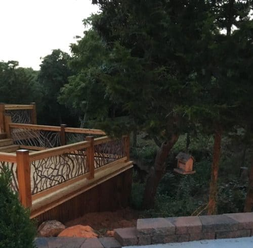 Natural Railing Blends With Trees