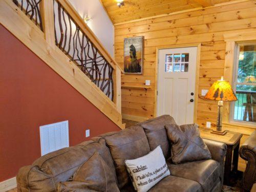 NC Log Cabin Living Room