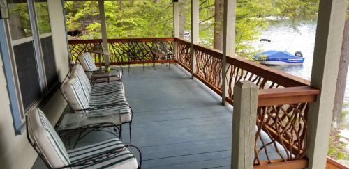 New Hampshire Lake House Deck Railing