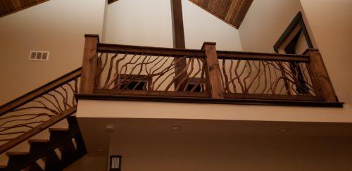 Ski Lodge Balcony Handrail