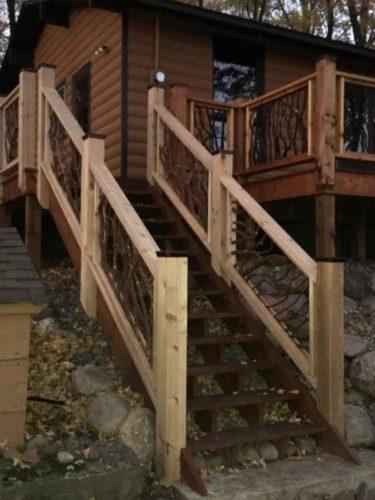 Sloping Homesite Stair Railing