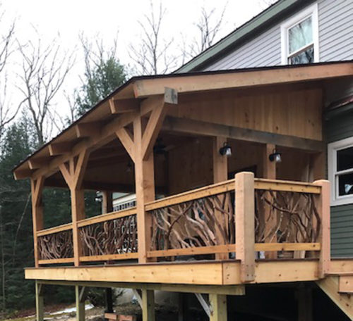Timber Porch Handrails Vermont