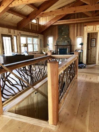 Timber Truss Loft Guardrail